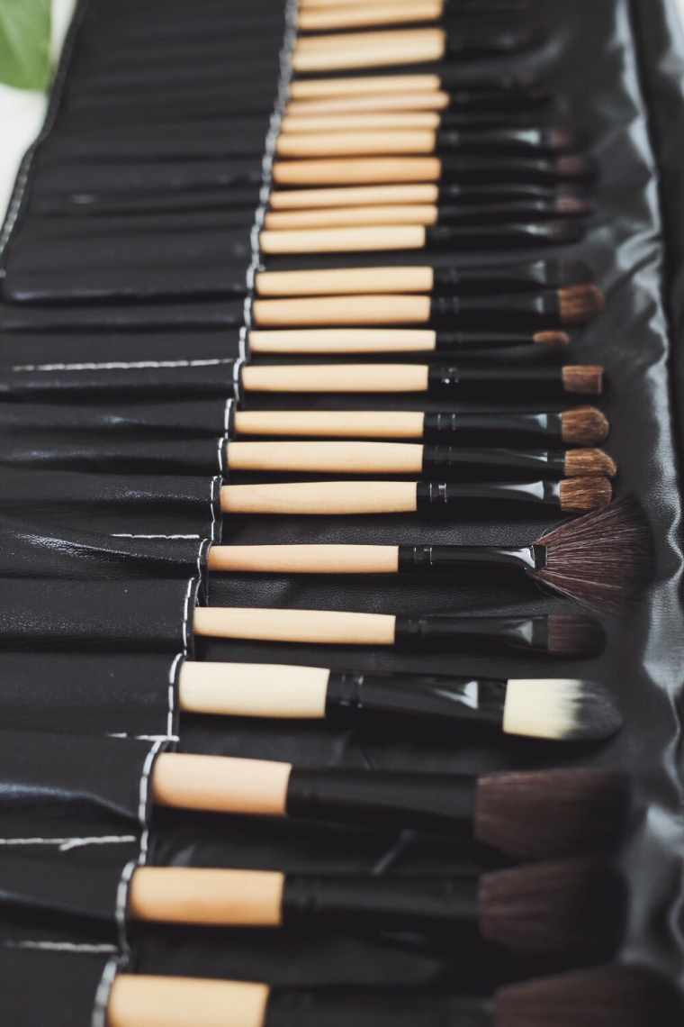 My Makeup Brush Set- Wooden Brushes